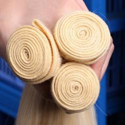 3pcs Body Wave 613 blonde color human hair bundle deals