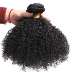 1 Bundle Afro Kinky Curly Human Hair Weave Virgin Human Hair Bundles Brazilian Peruvian Cambodian etc 8A
