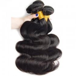 3 Bundle Deals Body Wave Raw One Donor Malaysian Brazilian Indian Malaysian Virgin Human Hair Weft Natural Color 8A