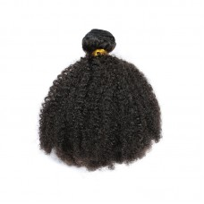 1 Bundle Deal Brazilian Afro Kinky Curls Black Color Tight Curly Boom Hair 3C 4A Curls Human Hair for Braiding