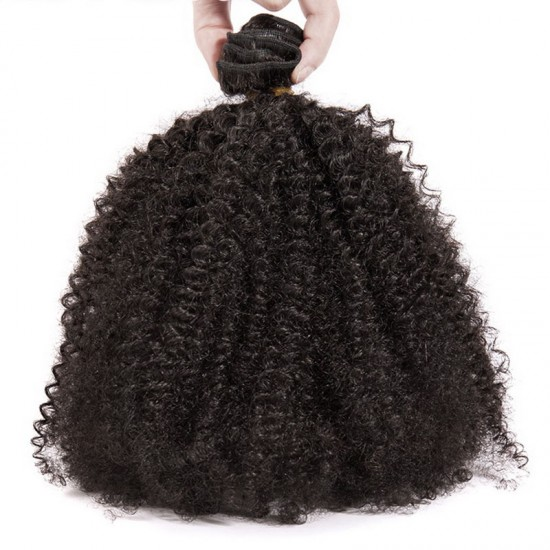 Afro Kinky Curly Human Hair Brazilian Natural Black Color 8inch-30inch Length Full Cuticle Thick and Tight Curly Wholesale Price 3PCS/Lot