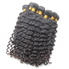10A Flawless Sivolla's Brazilian Virgin Deep Wave hair 4pcs/lot Soft and Bouncy Double Stitched Wefts Hair Braiding