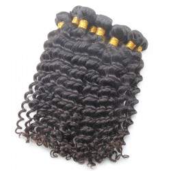 9A Flawless Sivolla's Brazilian Virgin Deep Wave hair 4pcs/lot Soft and Bouncy Double Stitched Wefts Hair Braiding