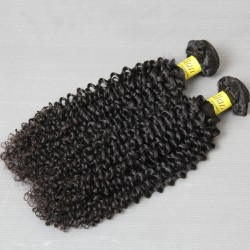 2Bundle Deal Brazilian Natural Raw Human Hair Jerry Curly Hairstyle