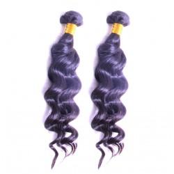 100% Real Human Hair Brazilian Loose Deep Wave Human Hair 9A BEST Raw Natural Black Color 2PCS