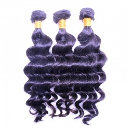 Brazilian Loose Deep Wave 3pcs A lot Bundle Deal Raw Human Hair Weaving