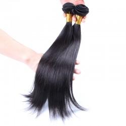 Hot Selling 9A Virgin Human Raw Hair Brazilian Straight Human Hair Weft Durable Quality Lush end