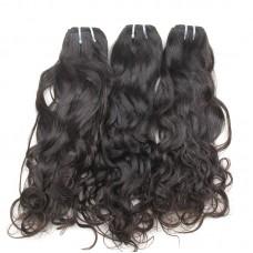 10A High Density Water Wave Raw Human Hair Thick end Brazilian Wavy Hair Natural