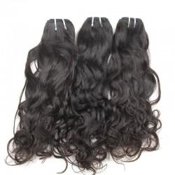 9A High Density Water Wave Raw Human Hair Thick end Brazilian Wavy Hair Natural