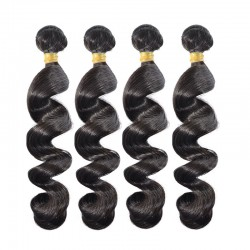Top of Grade 9A Gorgeous Virgin Brazilian Loose Wave Hair Weaves 4 Bundles Deal No Fillers Medium Luster with Raw Hair Material