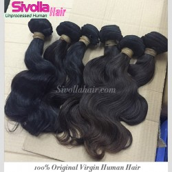 "10Pcs a Lot Burmese Unprocessed Virgin Human Hair 8""-30"" Body Wave wefts Cuticles Aligned Natural Black Color"