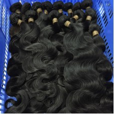 4 Bundle Deals Body Wave Raw Material Burmese Wavy Virgin Unprocessed 10A Natural Human Hair 400Gram