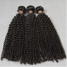 3Pcs/Lot=300gram Sivolla Burmese Kinky curls Magic curly human hair virgin Unprocessed Full head 3 bundles deal 10A