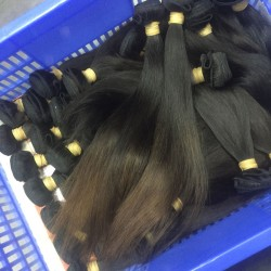 1Bundle Straight Weft Fabulous Bouncy Burmese Weaving Virgin Unprocessed 9A Human Hair