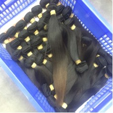 1Bundle Straight Weft Fabulous Bouncy Burmese Weaving Virgin Unprocessed 10A Human Hair