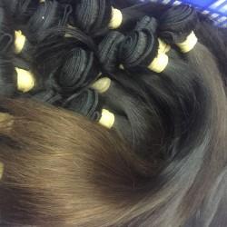 3Pcs/Lot 9A Hair Braiding Bulk Hair Burmese Straight Human Hair Weft Original Natural end Brownish Color Hair