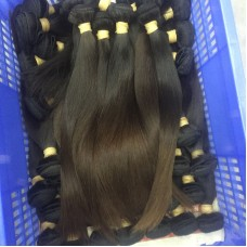 3Pcs/Lot 10A Hair Braiding Bulk Hair Burmese Straight Human Hair Weft Original Natural end Brownish Color Hair