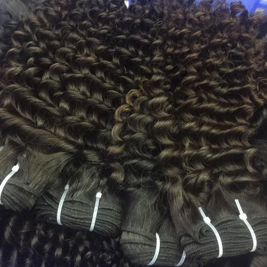 3Pcs/Lot 9A New Arrival Virgin human hair weave Burmese Deep curly Hair texture 300g tight small curls Beauty RAW no shedding