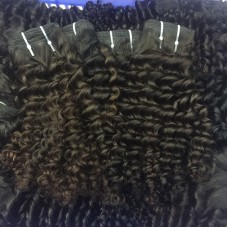 3Pcs/Lot 10A New Arrival Virgin human hair weave Burmese Deep curly Hair texture 300g tight small curls Beauty RAW no shedding