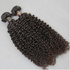 2Pcs 100% Virgin Human Hair Burmese Natural Black Color HAIR bundles deal Jerry Curly Boom Hair Weft