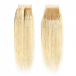Sivolla Hair Lace CLosure Blonde Color with Origial Virgin Hair COLOR 613 Straight Lace Closure 4*4