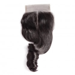 Healthly and Full Thick end Lace Closure Loose Wave Customize Part 100% Human Hair and Hand Tied Loose WAVE Closure