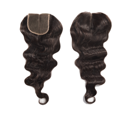 Sivolla Luster Body Wave Lace Closure Natural Color #1b with Original Human Hair Middle Part Three Part Available