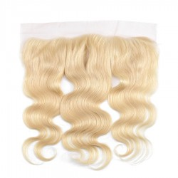10A Body Wave Lace Frontal Closure 13x4 Ear to Ear Blonde Color #613 Lace Fronal Closure Premium