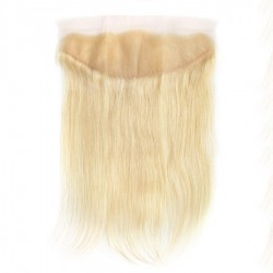Blonde Color Lace Frontal Closure #613 Straight Human Hair Lace Frontal 13*4 Closure Middle Part Three Part Available