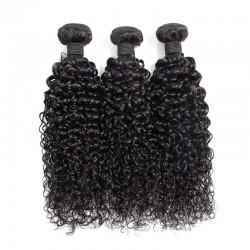 3 Bundles Deal Natural Black Color Jerry Curly Virgin Human Hair Weft Brazilian Indian Malaysian Peruvian Cambodian 8A