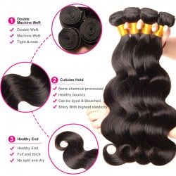 4 bundle Deals HOT Sale 9A Peruvian Virgin Hair Body Wave Weave Wefts Extremely Bouncy Wavy Texture SivollaHair Raw Hair
