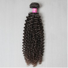 1Bundle Weave bundles 10A Virgin Peruvian Jerry Curly human hair extensions weft fuller ends 2Days fast delivery DHL