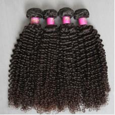 4 bundle Deals Peruvian Jerry Curly Natural Raw Human Hair Weave No shedding No Tangle Natural color Perfect Salon Service