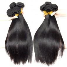 2Pcs Premium 10A Virgin Weave Straight Peruvian Straight RAW Hair Affordable Hair Extension Long Locks Beauty Hair Fast Ship