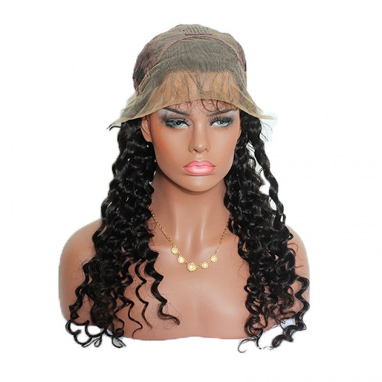 9A Free Shipping Original Natural Human Hair Deep Wave Lace Front Human Hair Wig High Density 180% Good Quality Lace Frintal Wigs Deep Curl Lace Frontal Wig