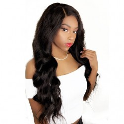 Body Wave 13*4 Lace Frontal Human Hair Wigs with Baby Hair Pre-Plucked Natural Hair Line 150% Density wigs