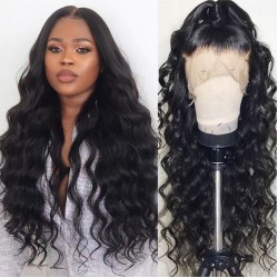 Natural Wave Lace Frontal Wigs for Black Women High Density 180% Lace Frontal Wave Original Raw Human Hair Frontal Lace Wigs