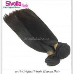 Free Shipping Premium Cambodian Straight Natural Hair 3 Bundles Deal Medium Luster Silky Straight Original Raw 100% Human Hair