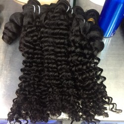 Cambodian 3 Bundle Deals Deep Wave 10A Raw Mink Human Natural Virgin Hair Sew-in Weft