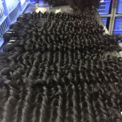 Cambodian Natural Human Hair Weave 10Bundles Deal Wholesale Price Deep Wave Hairstyle