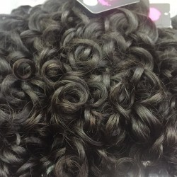 Cambodian Raw Material Mink Human Hair Romantic/Italian Curly Natural Black Human Hair Weft 4 Bundle Deals