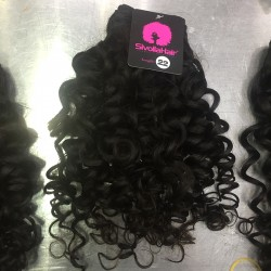 Cambodian 2 Bundle Deals Romantic/Italian Curly  Mink Human Hair Raw Unprocessed Natural Black Curls Hair Weave 10A
