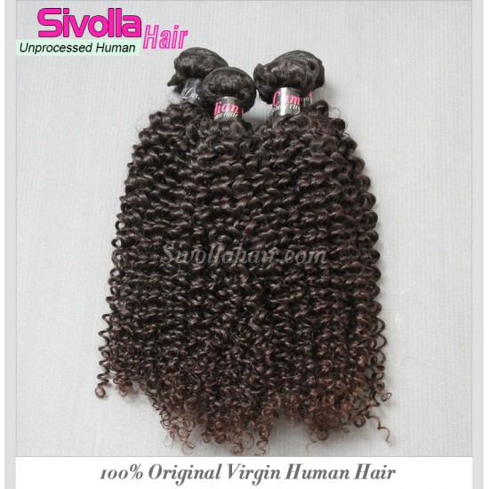 2 Bundle Deals 100% Virgin Hair Cuticles Full Same Direction 2Pcs a lot natural Cambodian RAW Hair Jerry Curly Wefts ALIQUEEN