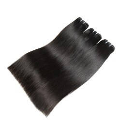 3PCS Sew in Premium Quality Grade 10A Double Weft and FULL Cuticle Cambodian Straight Hair Weft Slay Silky Straight Original Raw Human Hair