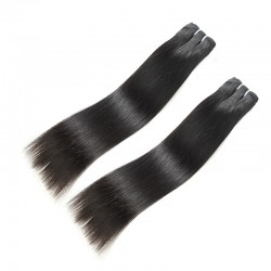 Cambodian 2PCS Straight Bundle Deals Mink Human 100% Original Raw Hair Material Natural Black Color Hair Weft 10A
