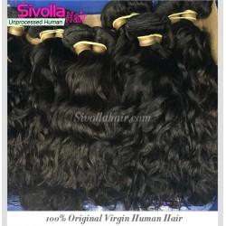 100% 9A Water Wave Human Virgin RAW Cambodian hair wavy texture 4 bundles Deal Dark Brown luster Durable Quality Hair