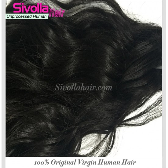 4Bundle Deals Water Wave Natural Black Human Hair Weave Beachable and Dyeable 10A 100% Virgin Hair