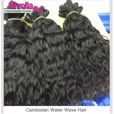 10A Unprocessed Virgin Cambodian Hair Natural Water Wave 3pcs/lot,100g/bundle Thick Human Hair Weave Free Shipping