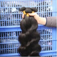 1pc a lot Original 10A Indian Virgin Human Hair Body Wave Weft bundles deal FLAWLESS NATURAL HUMAN RAW HAIR