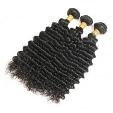 3Pcs/Lot Best Quality Virgin Indian Deep Wave Hair Weaving Unprocessed Raw Hair Bundle Deals Natural Machine Double Weft Hair